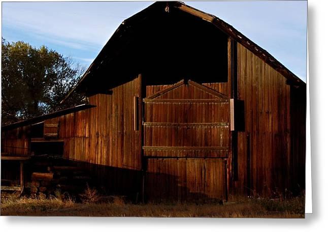 Old Western Photos Greeting Cards - Helper Utah Barn Greeting Card by James Boyd