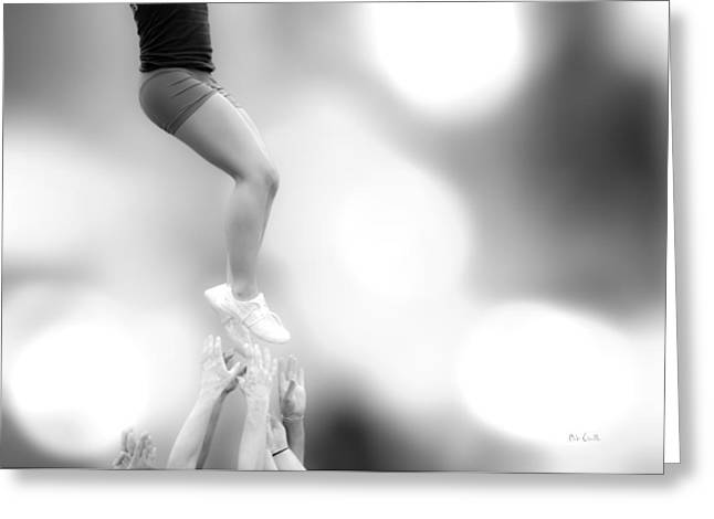 Gymnastic Greeting Cards - Helping Hands Greeting Card by Bob Orsillo