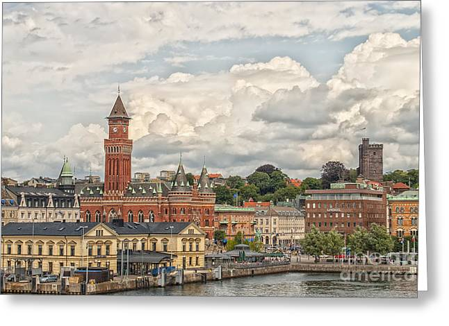 Helsingborg City Center Greeting Card by Antony McAulay