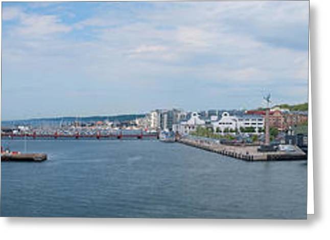 Tall Ships Greeting Cards - Helsingborg Panorama 01 Greeting Card by Antony McAulay