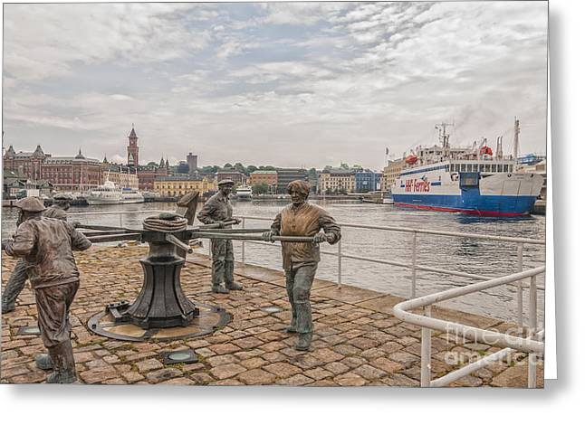 Geographical Locations Greeting Cards - Helsingborg Sailors Monument Greeting Card by Antony McAulay