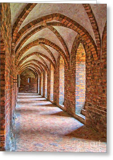Kloster Greeting Cards - Helsingor Monastery Painting Greeting Card by Antony McAulay