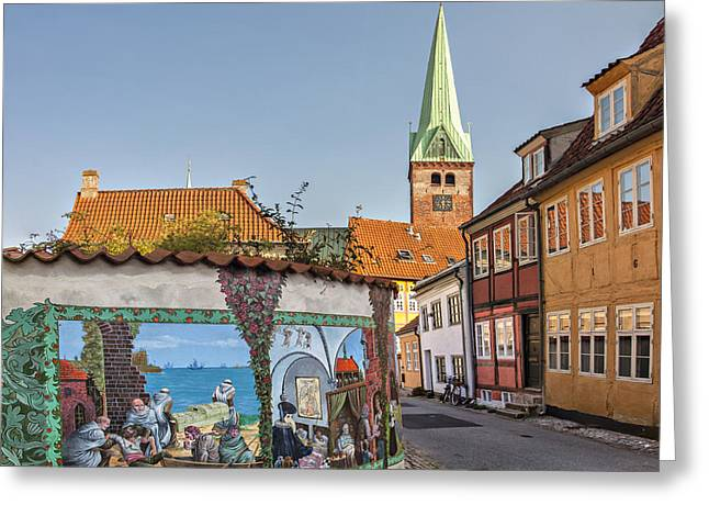 Renaissance Center Greeting Cards - Helsingor street Greeting Card by Sophie McAulay