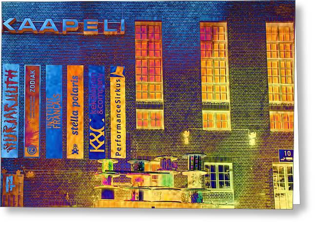 Helsinki Finland Greeting Cards - Helsinki Kaapeli Building Greeting Card by Catherine Arnas