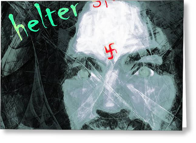 Mass Murder Greeting Cards - Helter Skelter 20141213 Square v3 Greeting Card by Wingsdomain Art and Photography