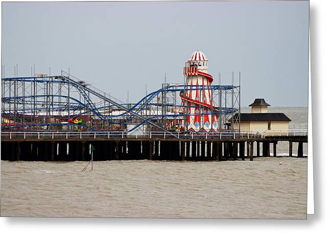 Rollercoaster Photographs Greeting Cards - Helter Skelter Greeting Card by Martin Newman