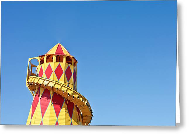 Amusements Greeting Cards - Helter skelter Greeting Card by Tom Gowanlock