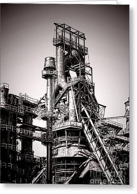 Smelter Greeting Cards - Helter Smelter Greeting Card by Olivier Le Queinec