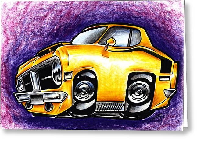 Iroatethis Drawings Greeting Cards - Hemi Greeting Card by Big Mike Roate