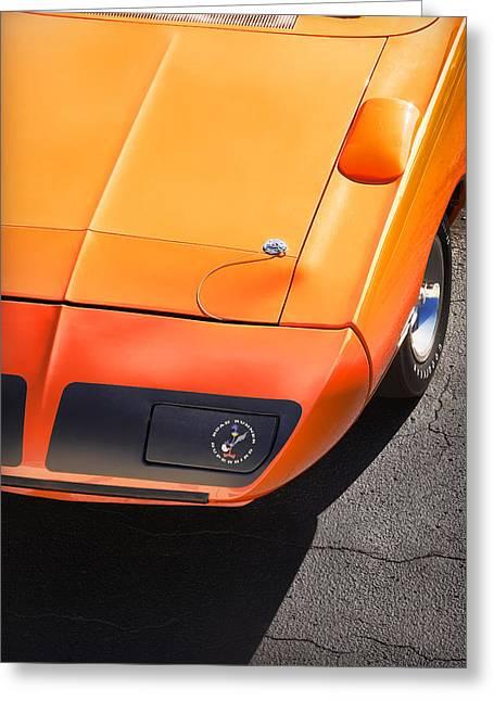 Runner Greeting Cards - Hemi Orange 1970 Plymouth Superbird Greeting Card by Gordon Dean II
