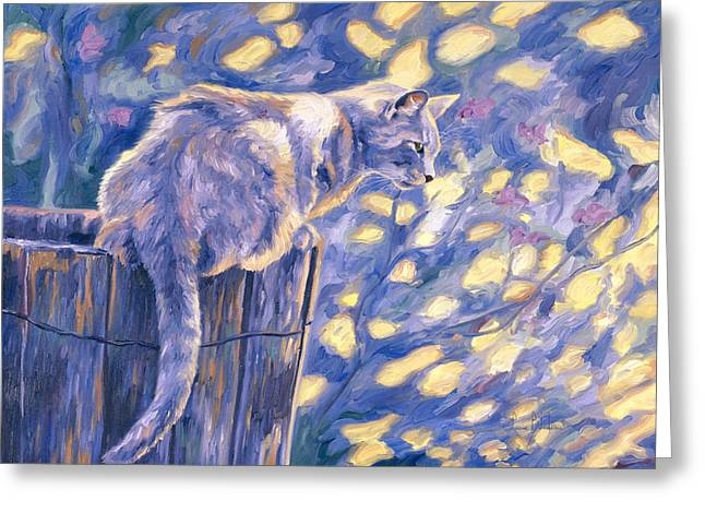 Domestic Cat Greeting Cards - Hemingway Cat Greeting Card by Lucie Bilodeau