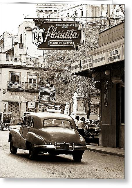 Cheri Randolph Greeting Cards - Hemingway Hangout Sepia Greeting Card by Cheri Randolph