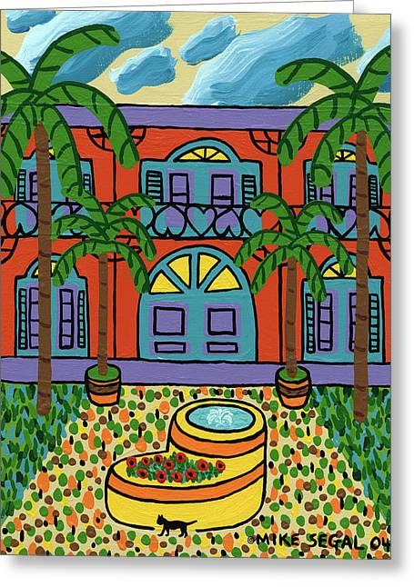 Mike Segal Greeting Cards - Hemingway House - Key West Greeting Card by Mike Segal
