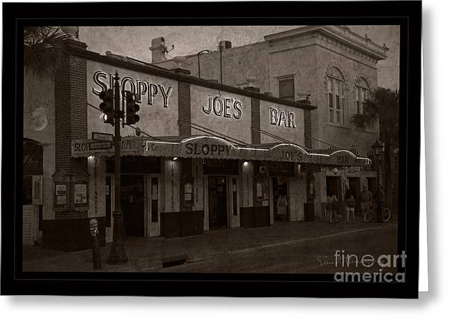 Autographed Photographs Greeting Cards - Hemingway Was Here Greeting Card by John Stephens