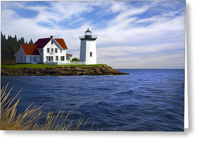 Recently Sold -  - Coastal Maine Greeting Cards - Hendricks Light Greeting Card by James Charles