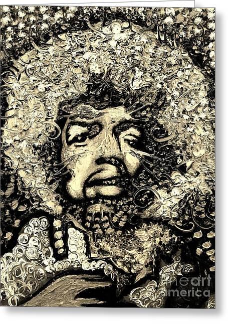 Michael Kulick Greeting Cards - Jimi Hendrix Greeting Card by Michael Kulick