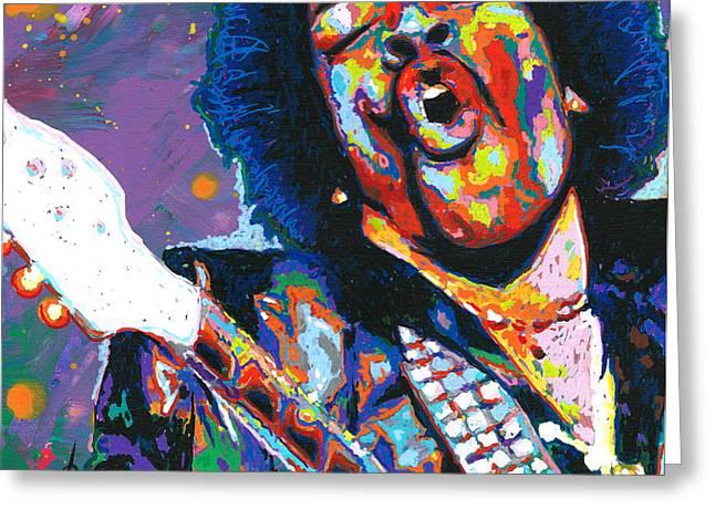 Hendrix Greeting Card by Maria Arango