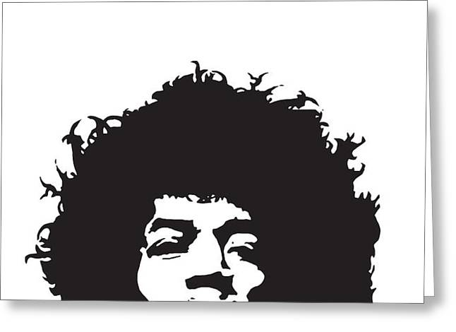Hendrix No.01 Greeting Card by Caio Caldas