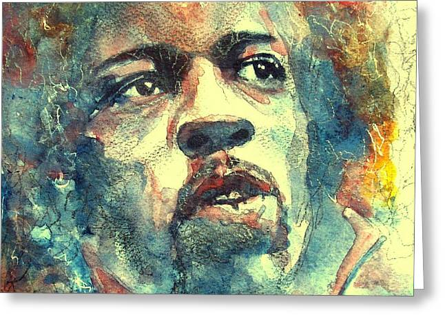 Jimi Hendrix Paintings Greeting Cards - Hendrix no5 Greeting Card by Paul Lovering