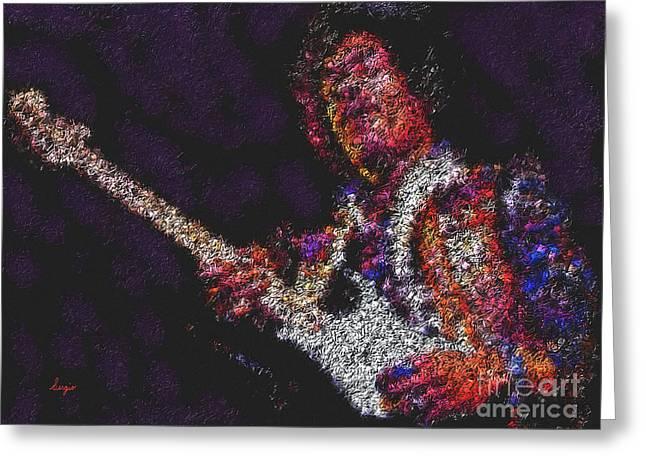 1960 Greeting Cards - Hendrix Greeting Card by Sergio B