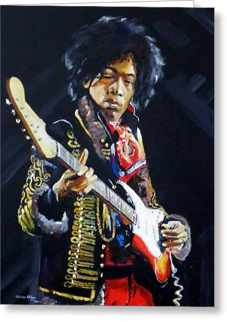 Voodoo Chile Greeting Cards - Hendrix Greeting Card by Terence R Rogers