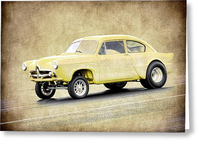 Graffitti Coupe Greeting Cards - Henry J Gasser Greeting Card by Steve McKinzie