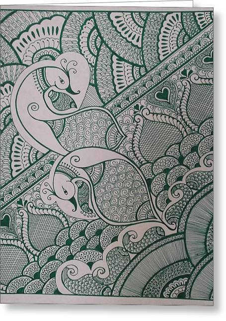 Hallmark Greeting Cards - Henna Greeting Card by M Ande