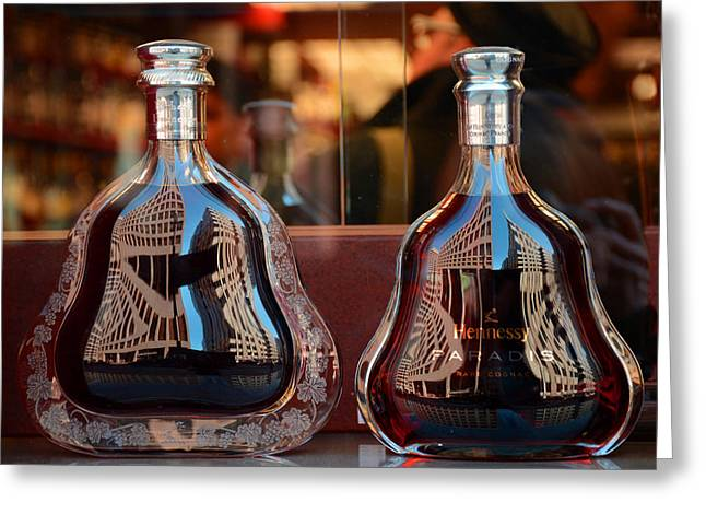 Bottled Pyrography Greeting Cards - Hennessey Greeting Card by Susan D Phillips