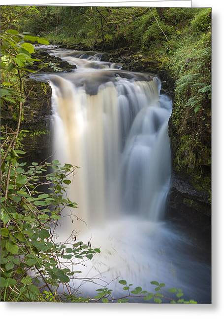 Brecon Beacons Greeting Cards - Henrhyd Falls Greeting Card by Sebastian Wasek