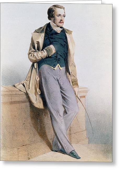 Henri Charles Ferdinand Marie Dieudonne De France, Duc De Bordeaux, Comte De Chambord Litho Greeting Card by Joseph Felon