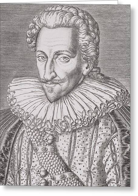 Henry Greeting Cards - Henri IV Greeting Card by Theodore De Bry