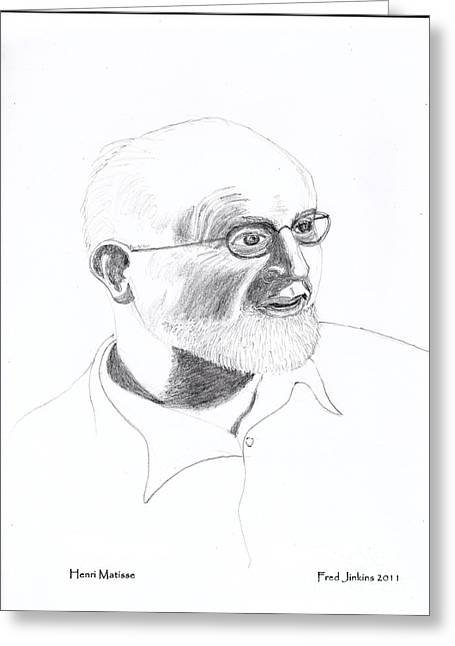 Famous Artist Greeting Cards - Henri Matisse Greeting Card by Fred Jinkins