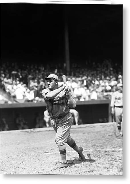 Baseball Game Greeting Cards - Henry A. Ernie Vick Greeting Card by Retro Images Archive