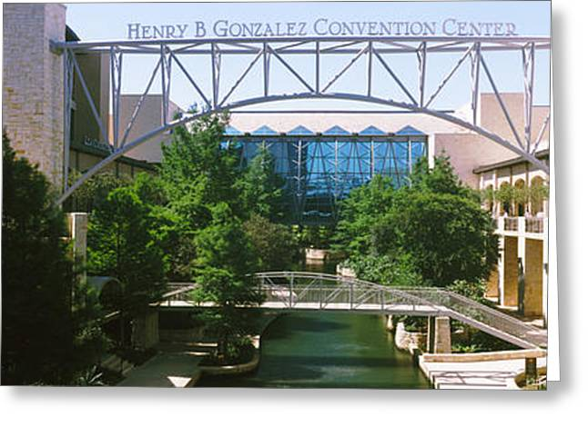 Convention Center Greeting Cards - Henry B. Gonzalez Convention Center Greeting Card by Panoramic Images