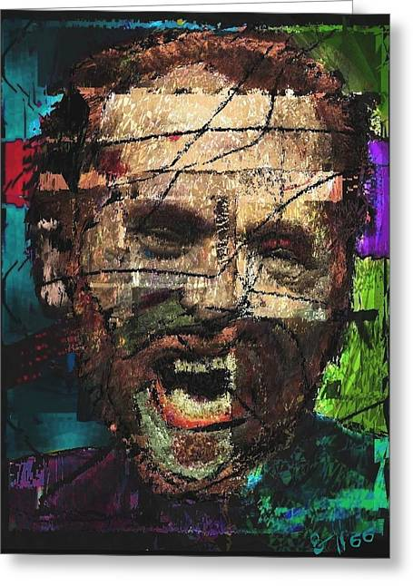 Bukowski Greeting Cards - Henry Chinaski  Greeting Card by Brett Sixtysix
