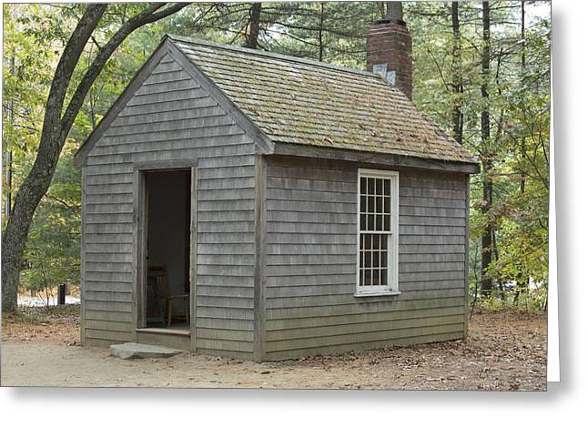 Henry David Thoreaus Cabin Greeting Card by Science Stock Photography