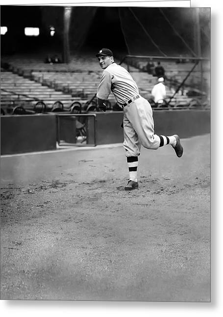 Detroit Tigers Photos Greeting Cards - Henry E. Heinie Manush Greeting Card by Retro Images Archive