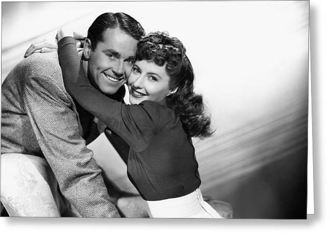 1940s Movies Greeting Cards - Henry Fonda and Barbara Stanwyck Greeting Card by Nomad Art And  Design
