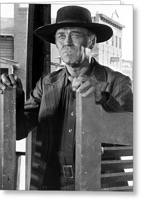 Volta Greeting Cards - Henry Fonda in Cera una volta il West  Greeting Card by Silver Screen