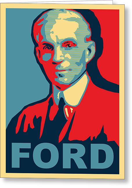 Auto-portrait Greeting Cards - Henry Ford Greeting Card by Design Turnpike