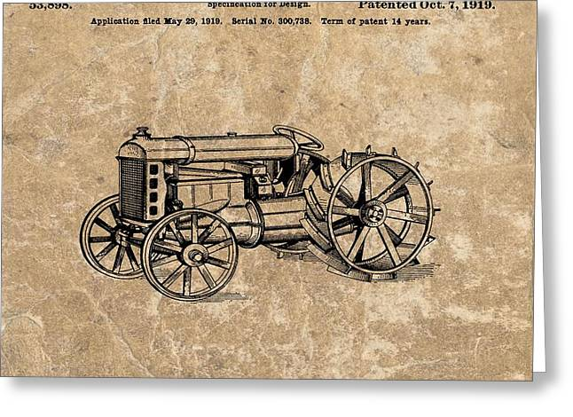 Henry Ford's Tractor Patent Greeting Card by Dan Sproul