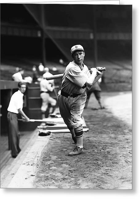 Dugout Greeting Cards - Henry G. Heinie Schuble Greeting Card by Retro Images Archive