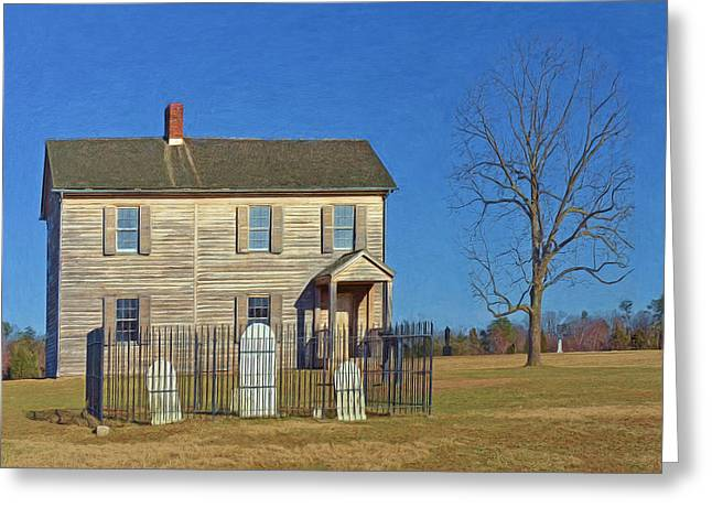 Confederacy Digital Art Greeting Cards - Henry House in Winter / Manassas National Battlefield Greeting Card by Digital Photographic Arts