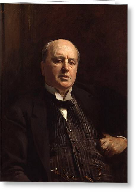 Recently Sold -  - British Portraits Greeting Cards - Henry James Greeting Card by John Singer Sargent