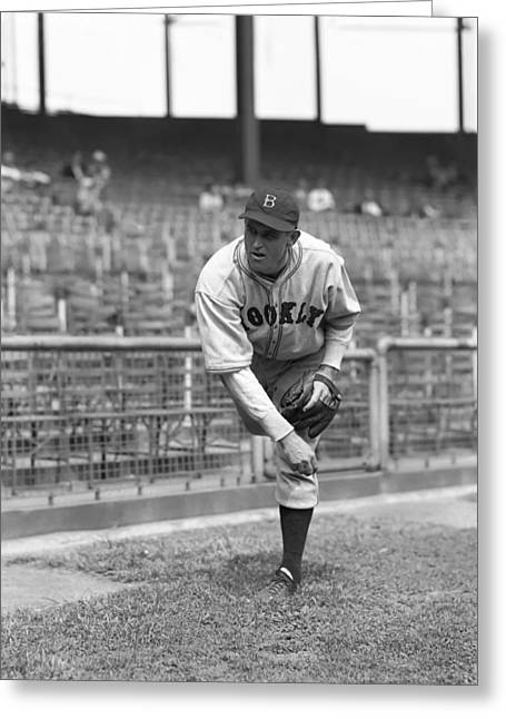 Brooklyn Dodgers Greeting Cards - Henry R. Hank Winston Greeting Card by Retro Images Archive