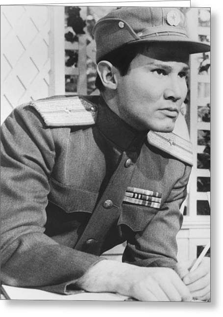 Henry Greeting Cards - Henry Silva Greeting Card by Silver Screen