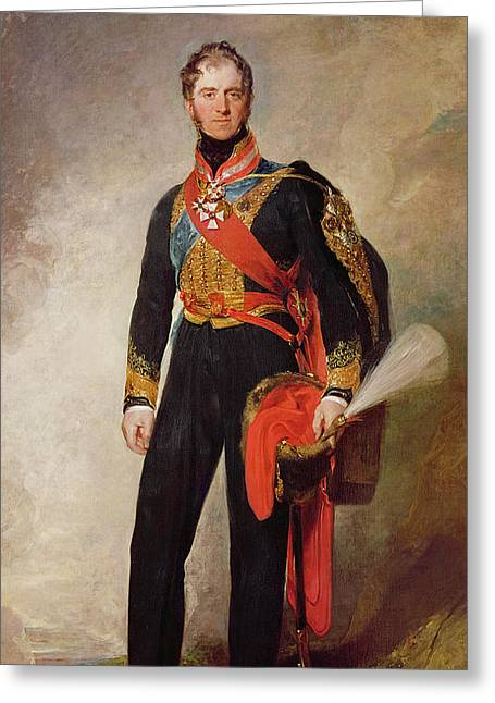 Full-length Portrait Greeting Cards - Henry William Paget, 1st Marquis Of Anglesey Oil On Canvas Greeting Card by Sir Thomas Lawrence