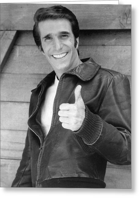 Henry Greeting Cards - Henry Winkler Greeting Card by Silver Screen