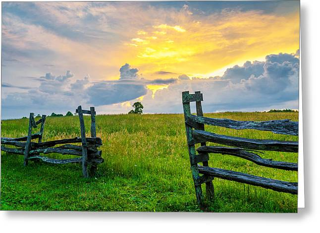 Split Rail Fence Greeting Cards - Rapture Greeting Card by Anthony Heflin