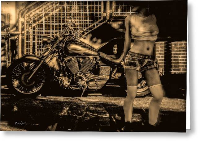 Shorts Greeting Cards - Her Bike Greeting Card by Bob Orsillo
